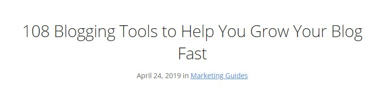 Blogging Tools Headline