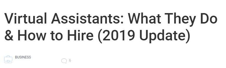 Virtual Assistants Headline
