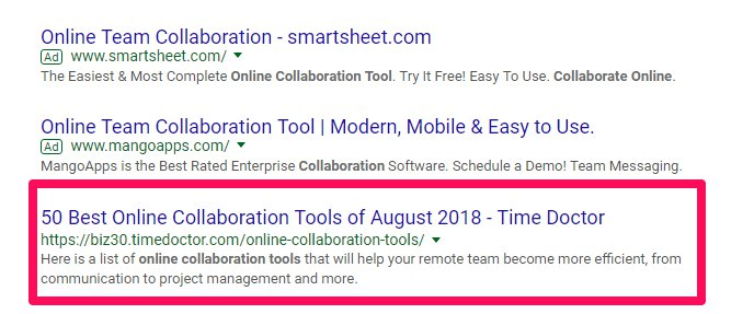 Online Collaboration Tools Ranking First