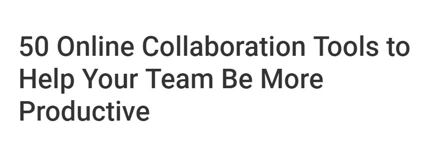 Online collaboration tools title