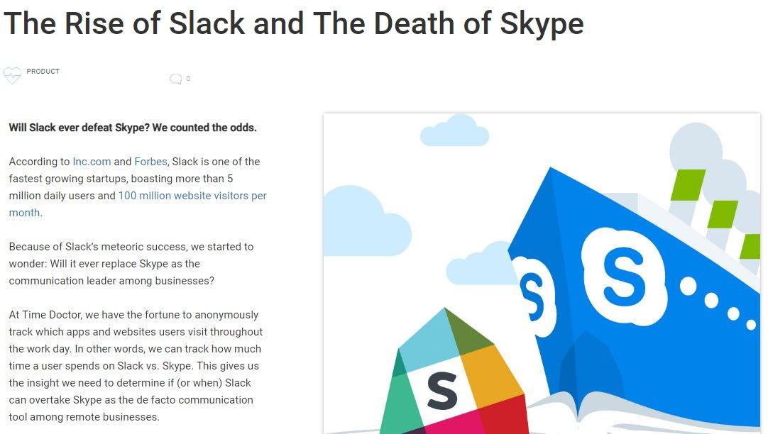 Rise of Slack Death of Skype