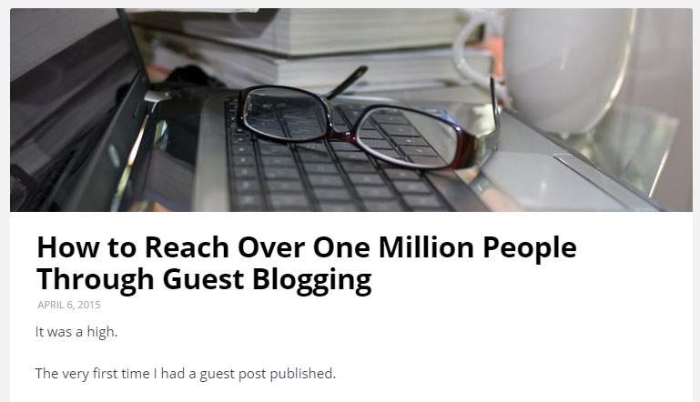 guest blogging headline