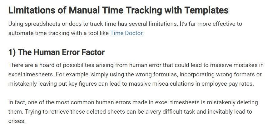 timesheet template business case