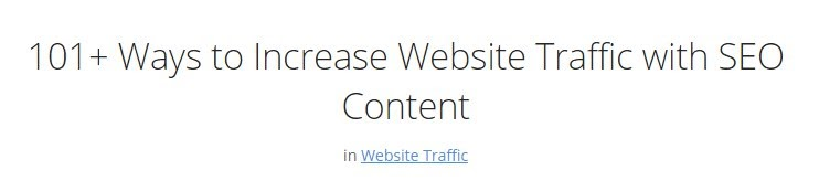 increase website traffic title