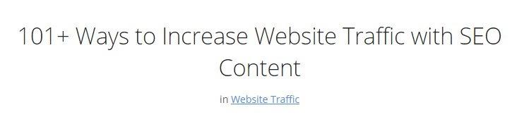 increase website traffic title