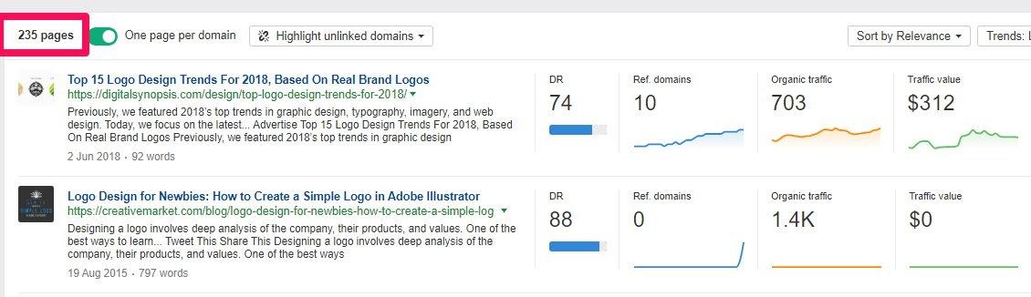 logo content explorer pages