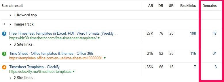 timesheet template domains