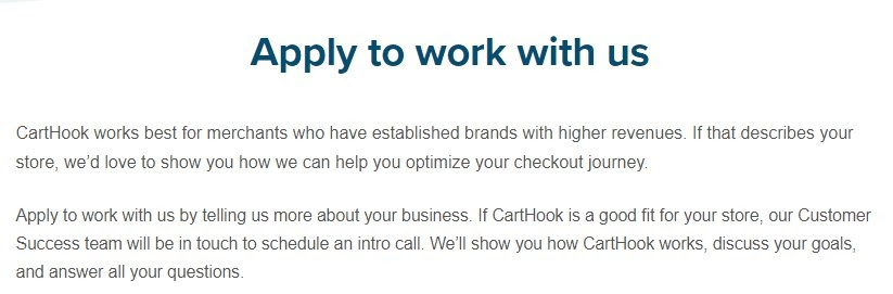 Apply to Work with Us