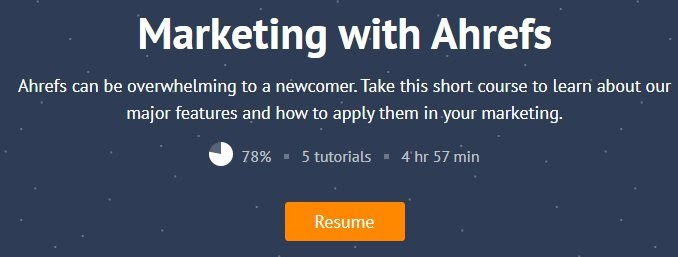 ahrefs free course