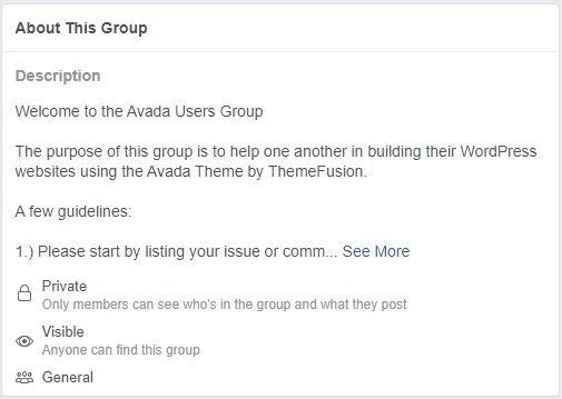 avada user group