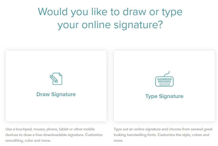 docsketch online signature tool