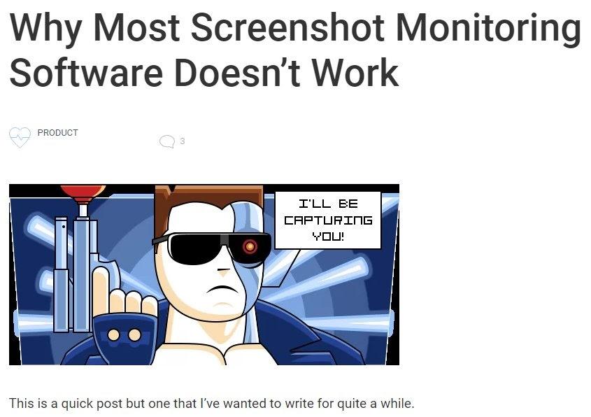 screenshot monitor case study