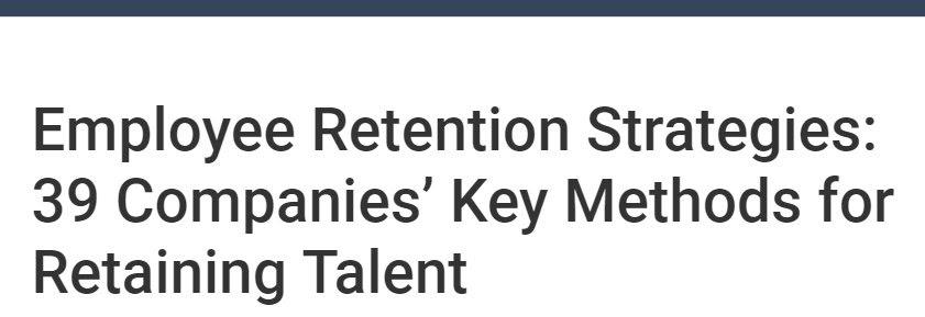 employee retention strategies headline