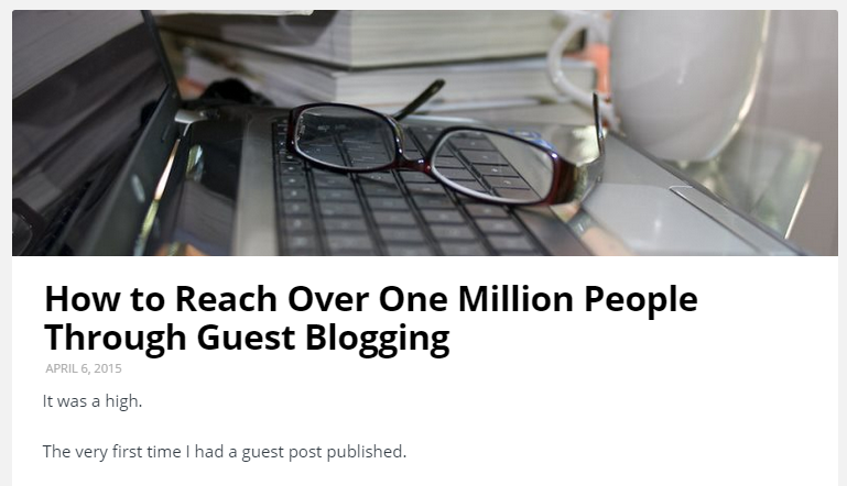 guest blogging content syndication
