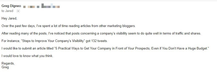 guest blogging pitch
