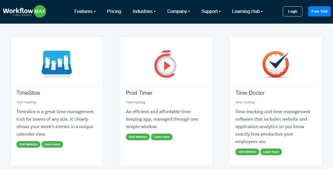 workflowmax integration page