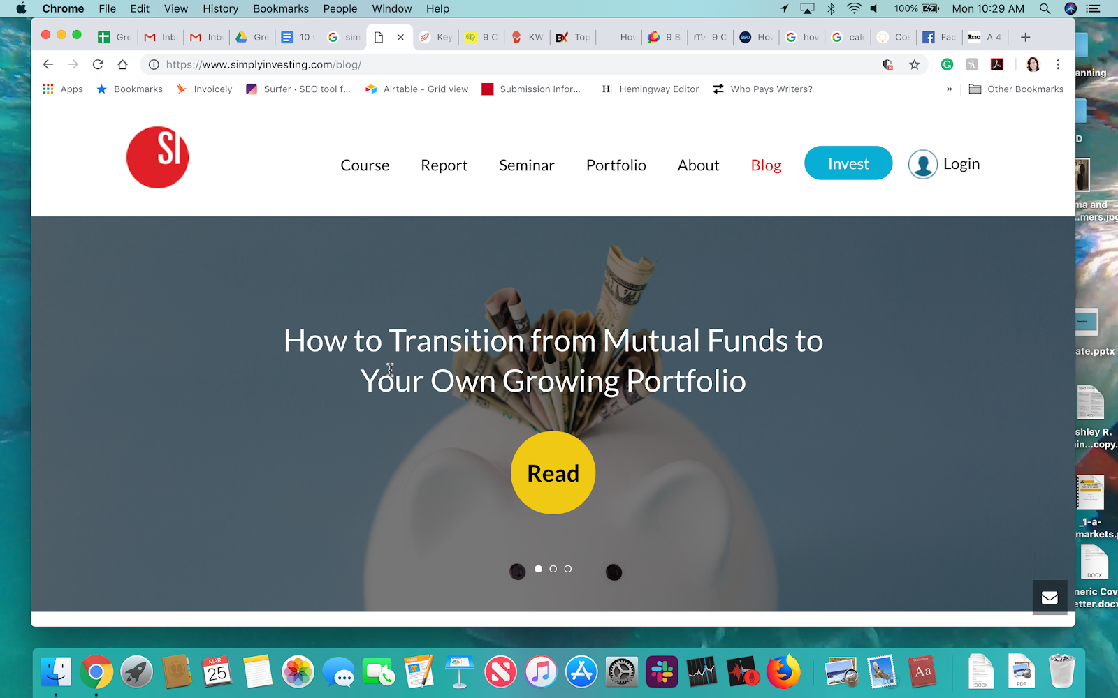 Simply Investing Blog Name