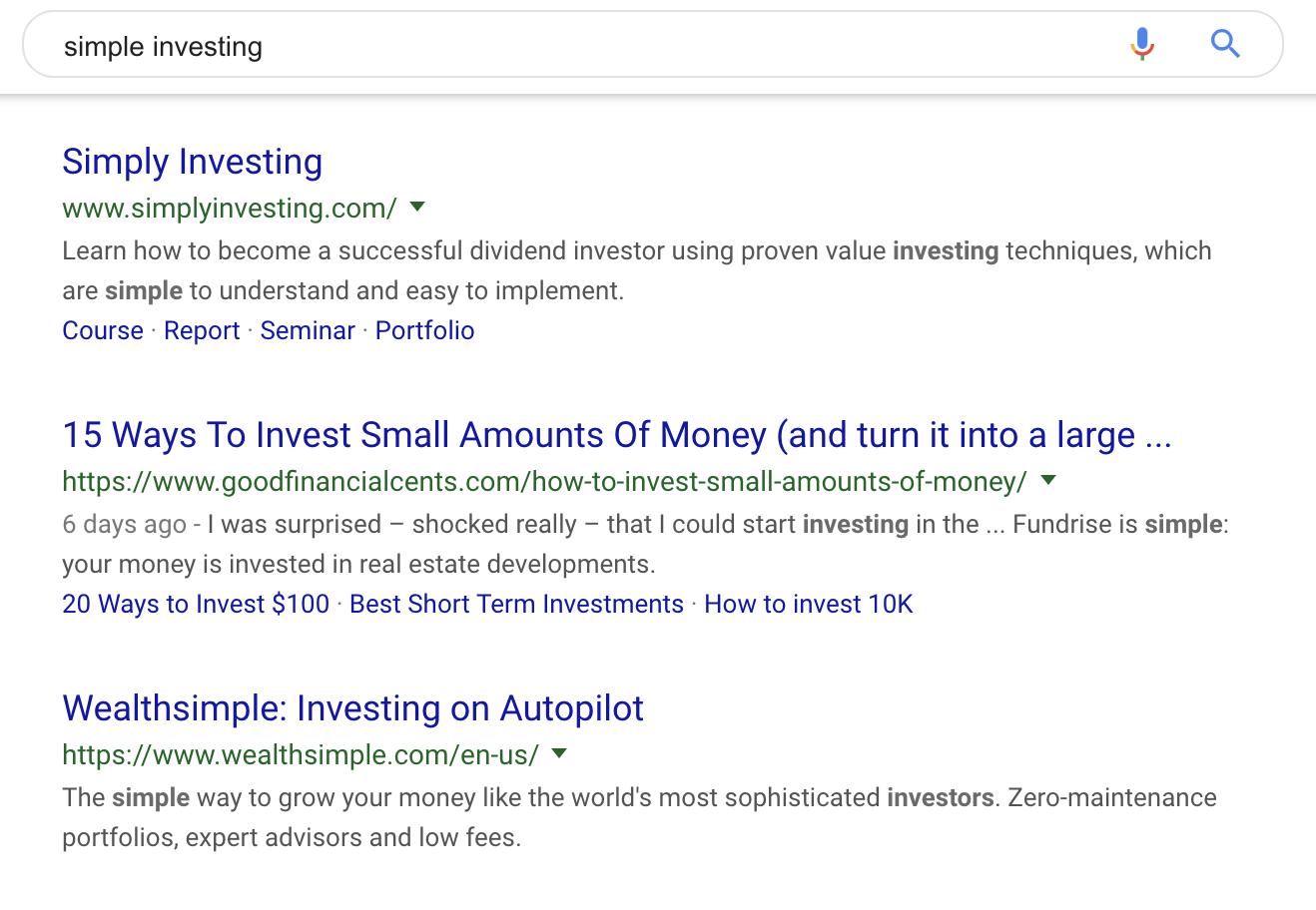 simple investing rank
