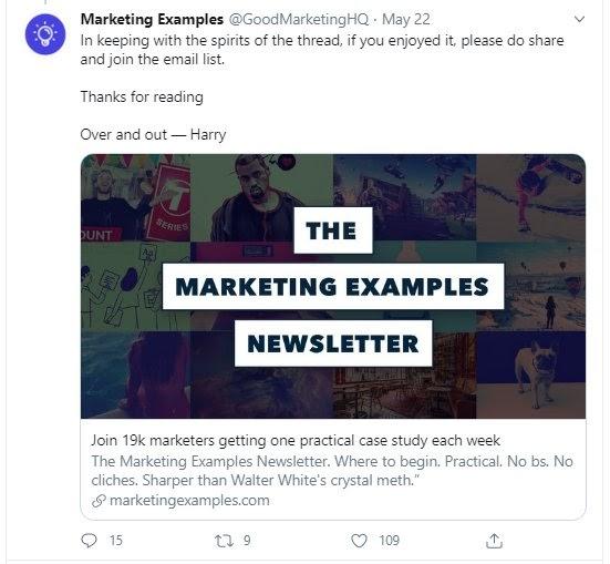 marketing examples cta