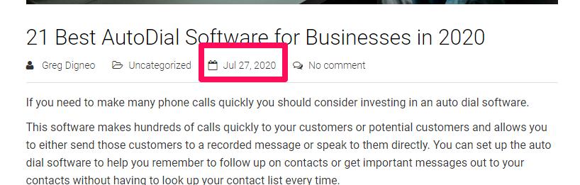 autodialer software publish date
