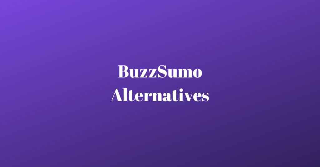 buzzsumo competitors