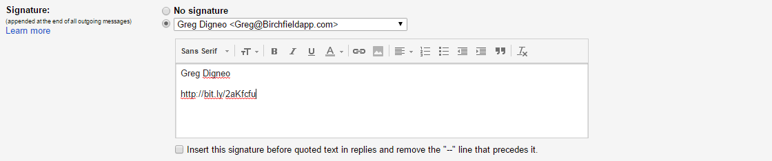 email-signature-link