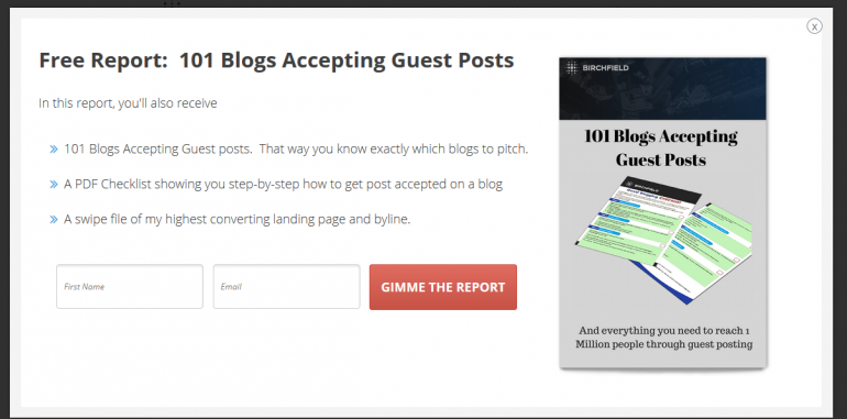 guest post report optin